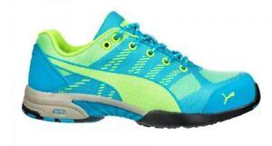 f70e0e02c85703 PUMA Celebrity Knit Women s Low Blue Green Steel Toe SD Work Shoes ...