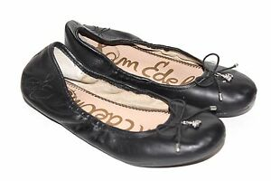 de837468fc8 Image is loading SAM-EDELMAN-Nordstrom-Felicia-Black-Leather-Ballet-Flat-
