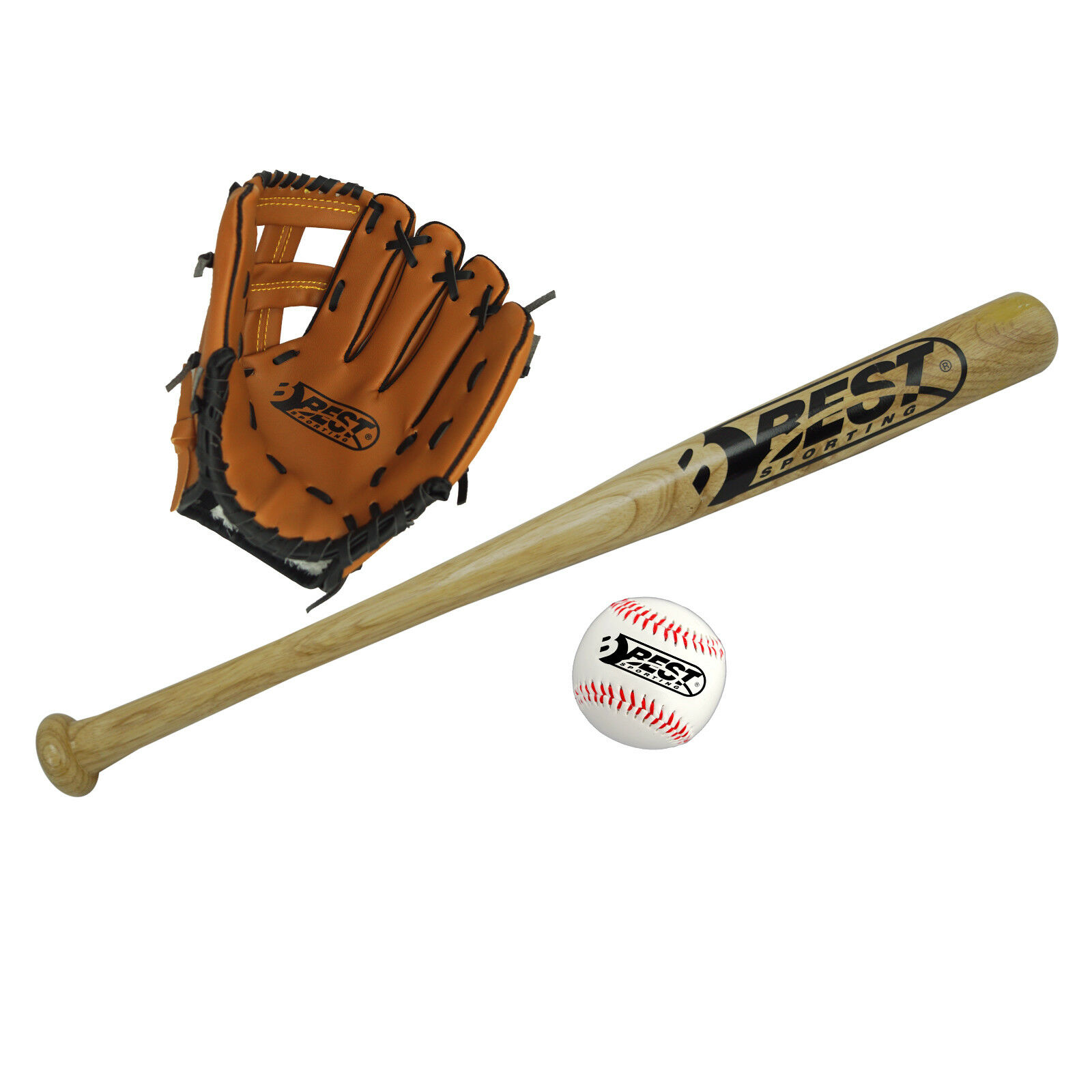 Best Sporting Baseballschläger Baseballkeule Holz Holzschläger 66 oder 81 cm