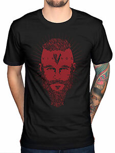e5821e29e Official Vikings Ragnar Face T-Shirt TV Series History Channel Fan ...