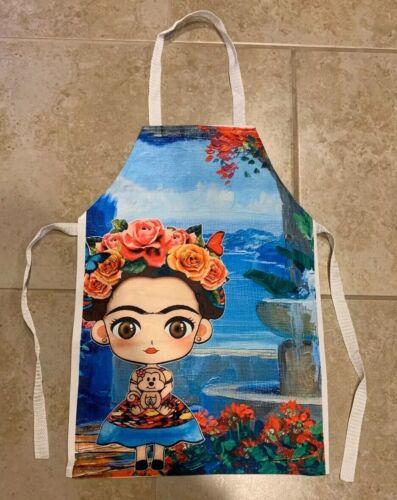 Frida Kahlo Apron Mandil Vinyl For Girl One Size Unitalla