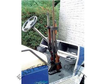 Floor mount gun rack universal fits all ezgo club car for Yamaha golf cart repair near me