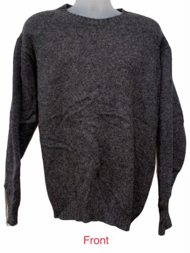 Vintage 80s LL Bean Gray Wool Knit Pullover Crewn… - image 1