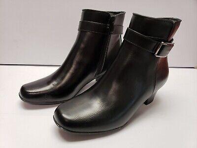 Womens Faux Leather Casual Dress Low Heel Ankle Boots Lauren Blakwell Milo