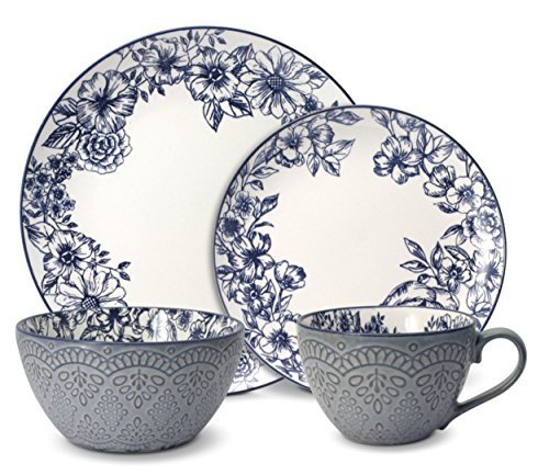 Pfaltzgraff Galaxy Reactive 16pc Dinnerware Set For Mother S Day For Sale Online Ebay