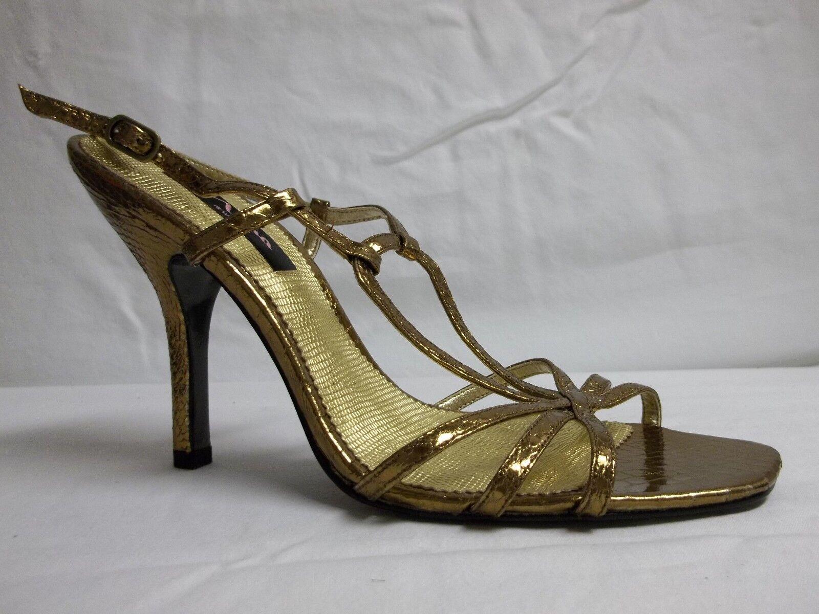 Nina Größe 9.5 M Amazone Bronze Open Toe Slingbacks Heels New Damenschuhe Schuhes NWOB