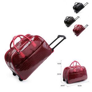 Unisex-Crocodile-Trolley-Holdall-Hand-Luggage-Animal-Weekend-Bag-Holiday-M101-11
