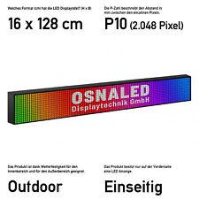 LED Display Laufschrift Werbung Reklame 32 x 64 cm Vollfarbig Außen Innen 10 mm