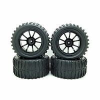 1:10 Rc Monster Truck Car Wheel Tyre Tires With 5 Spokes Wheel ... Free Shipping