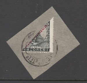 Azores-Sc-127-bisect-used-on-piece-1912-cancel-5c-King-Manuel-II-with-red-ovpt