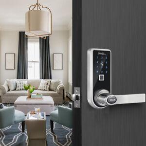 Details About 5 In 1 Digital Keyless Code Entry Fingerprint Touchscreen Smart Door Lock Diy Uk