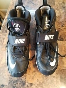 Nike Football Cleat Men's Size 13 Black White Vintage 2009 Leather/Suede