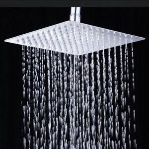 6-8-10-12-039-039-Tete-Pomme-de-Douche-Douchette-Pommeau-Inox-Pluie-Salle-Bain-Shower