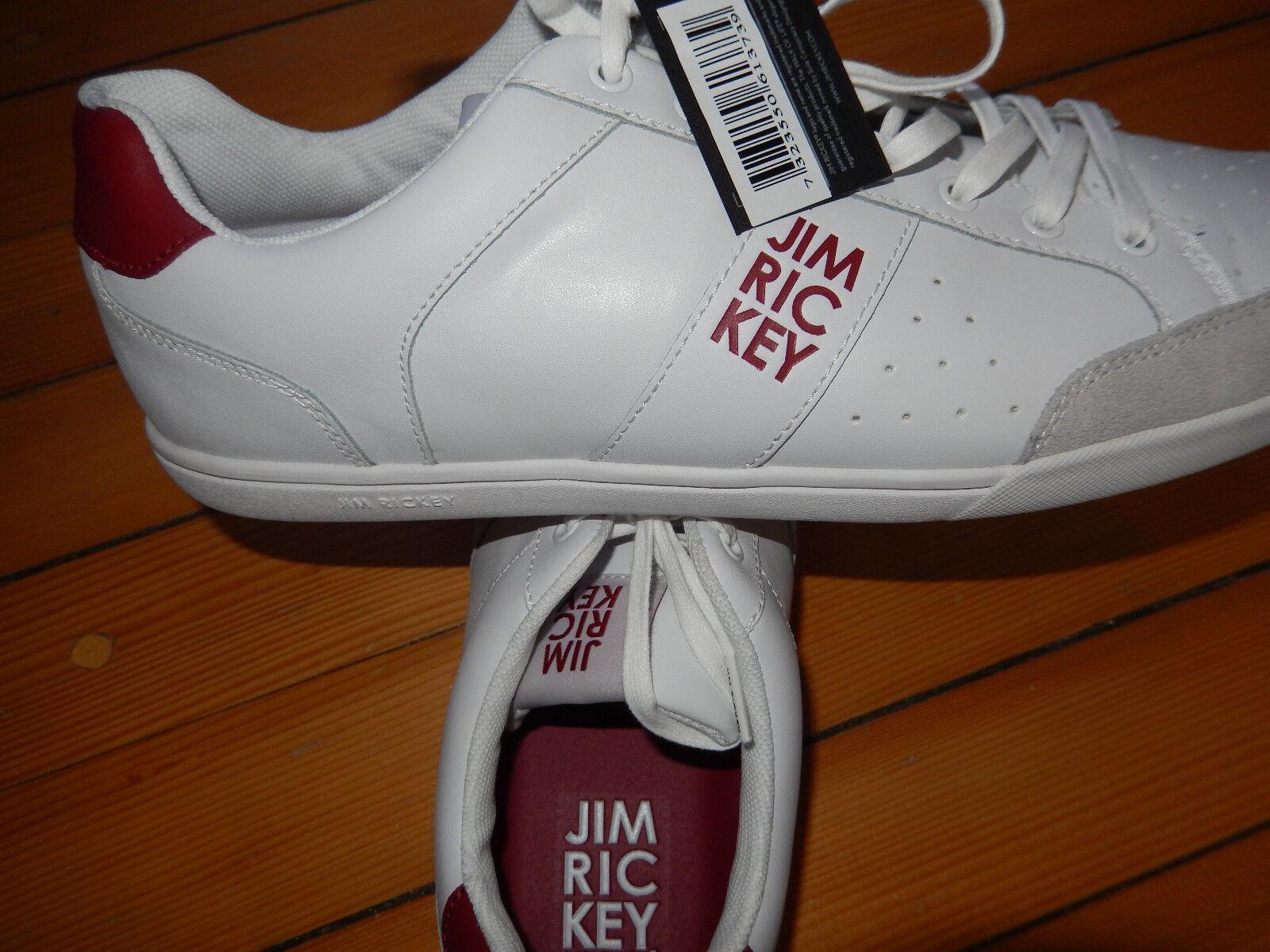 Jim Rickey COURT # 45 # Sneaker low Turnschuhe # WEISS/ROT # Schuhe Turnschuhe low 7c497b