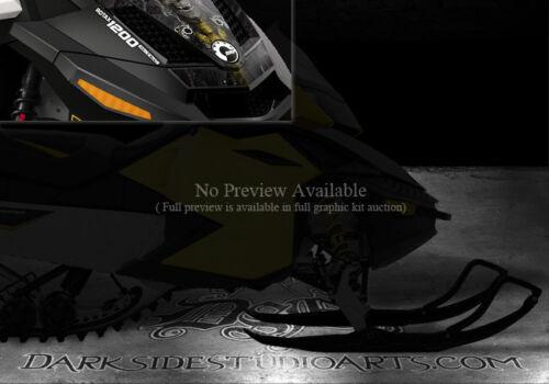 "SKI-DOO 2009-2014 REV XR 1200 GRAPHICS WRAP KIT /""THE OUTLAW/"" BLACK STICKER KIT"
