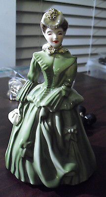 "Vintage 1950s Florence Ceramics California Sarah in Green Figurine 7 1/2"""