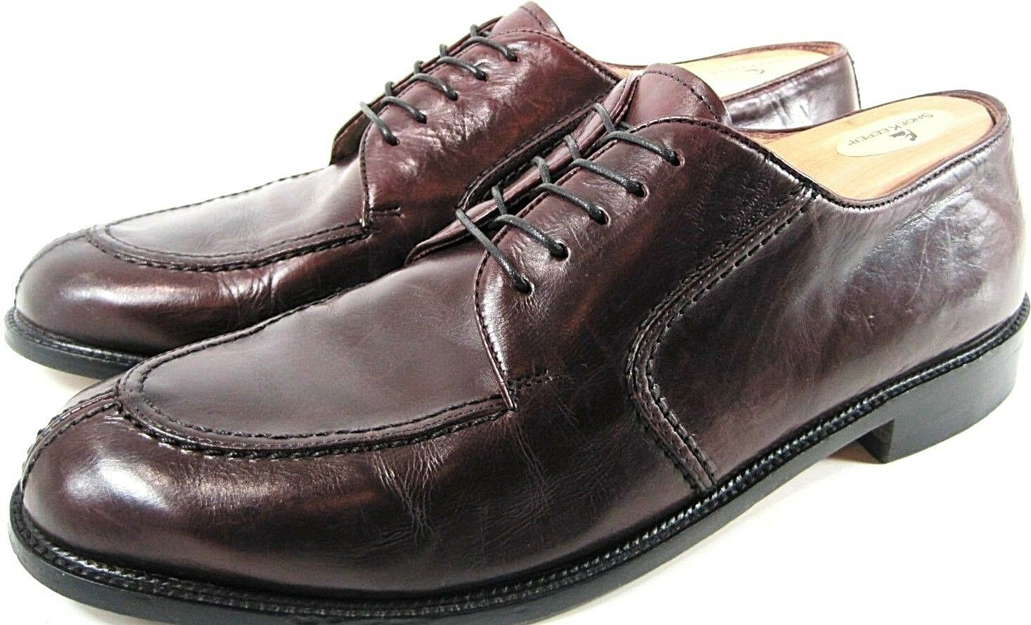 Pronto men Firenze Men Split Toe Oxford shoes Leather Size 12 M Brown.