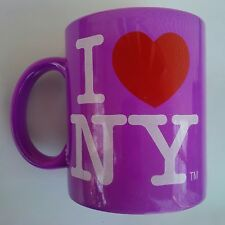 I HEART NY LOVE NEW YORK PURPLE 11 OUNCE CERAMIC COFFEE MUG SOUVENIR