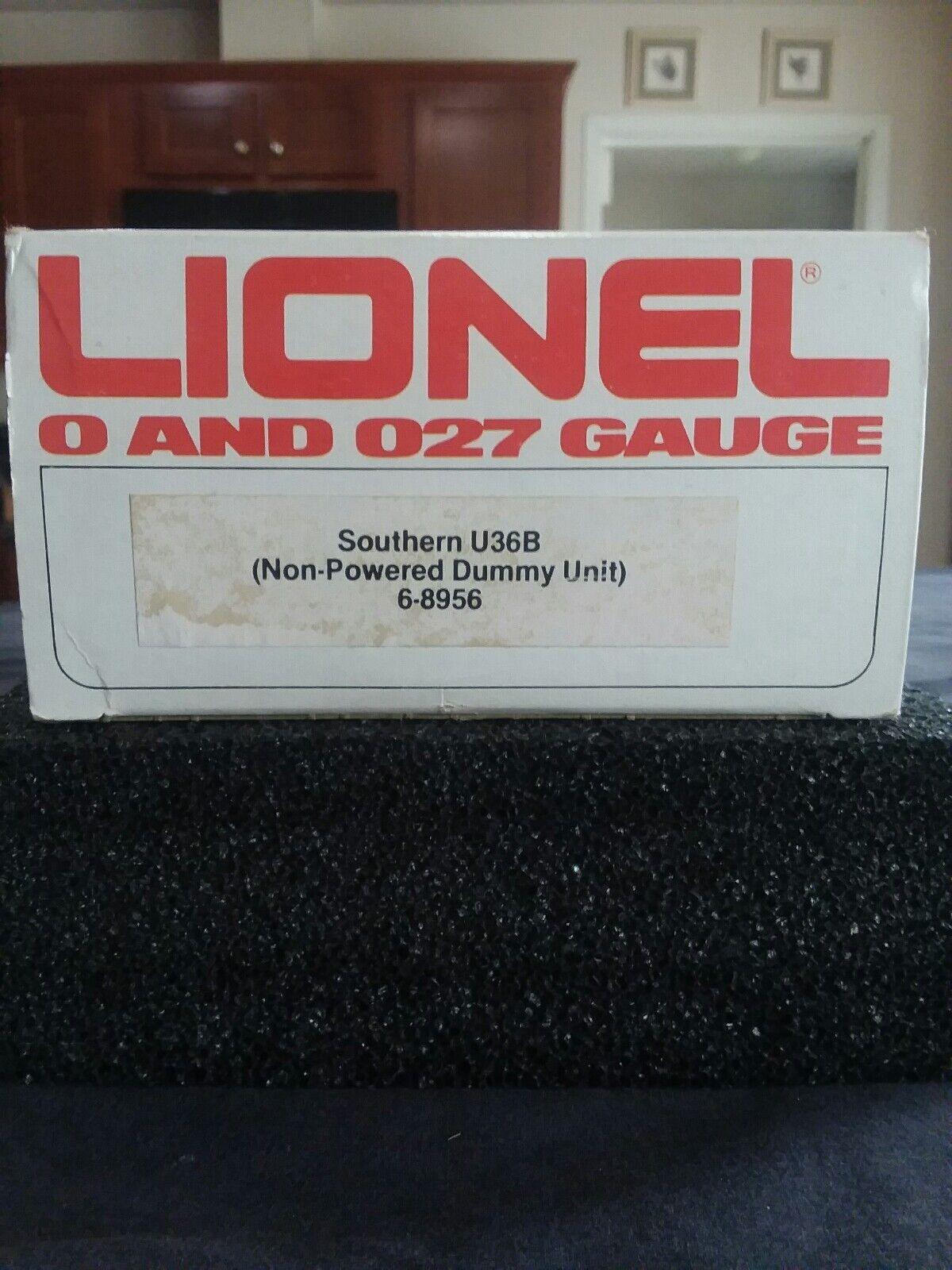 LIONEL 6-8956, NIB, SOUTHERN U36B DIESEL , NON-POWER Item  59