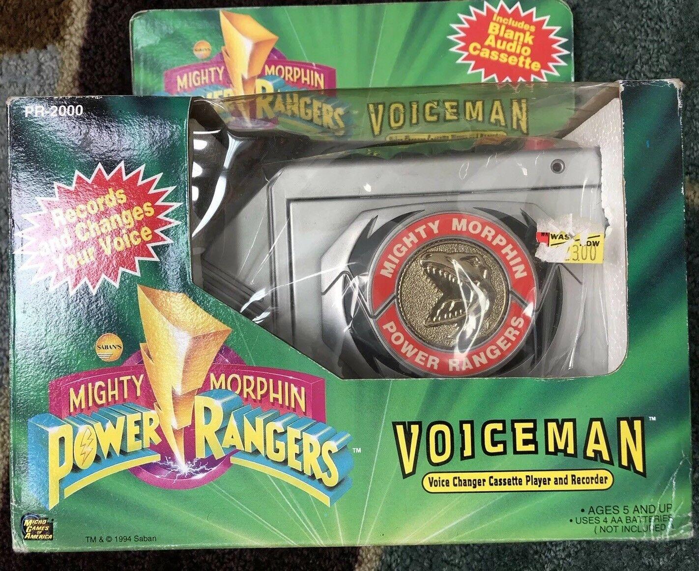 1994 morphin mächtig power rangers voiceman voice changer kassettenrekorder jahrgang
