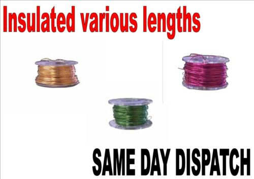 Insulated pencil wire Solderable 0.19mm Copper wire 6ft 100ft Enamelled!!