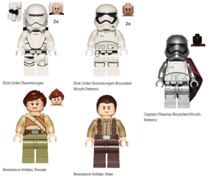 NEW Lego Star Wars 75103 Minifigures ONLY NOT BUILT