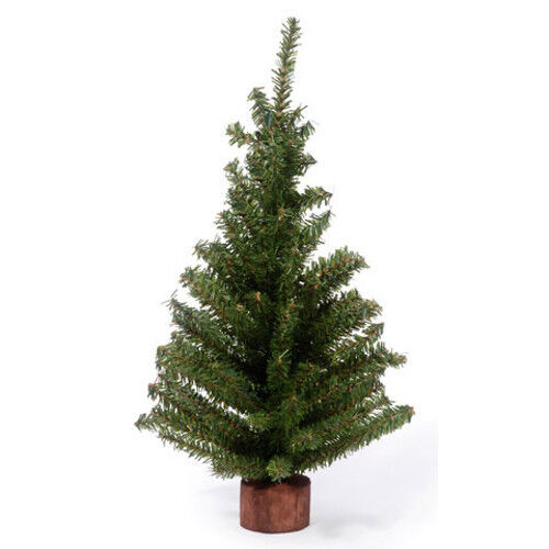 Darice Artificial Canadian Pine Tree with Wood Base 6 inch Tabletop  tips