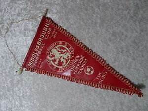 Middlesbrough-the-New-Riverside-Stadium-1986-Foot-Ball-Pennant-Vintage