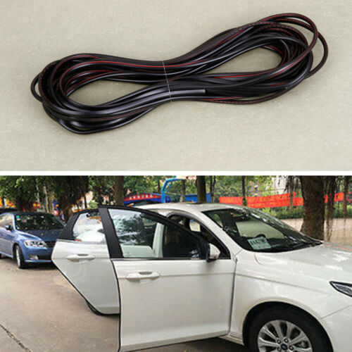 6M Car Door Edge Protector Universal Protection Guard Trim Strip Cuttable Black