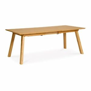 Details About Charlotte Rustic Wooden Oak Extendable 6 8 Seater Dining Table