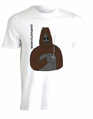 Sassy Sasquatch Popcorn The Big Lez Show Unofficial Funny Mens T Shirt Top AA03