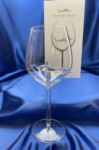 The 3D Shark White Wine Glass In A Beautiful Gift Box!