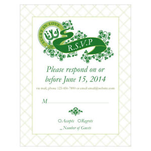 Wedding Response Cards.Details About 48 Luck Of Irish Custom Printed Wedding Response Cards