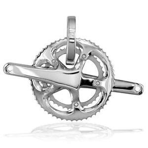 Large Stone Bicycling Pendant