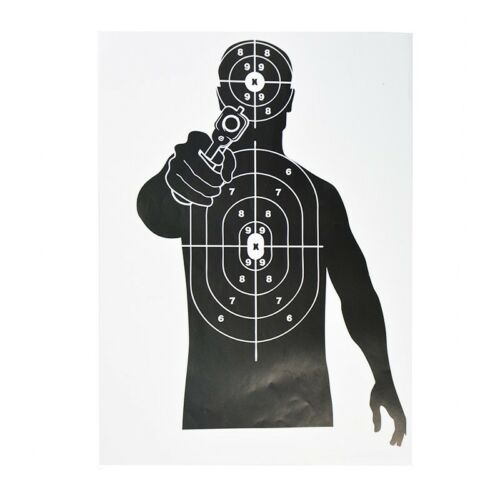 "12x17/"" Shooting Targets Paper Gun Pistol Game Archery Huntingf Practice 10pcs"