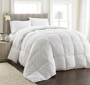 Piped Edges White Down Alternative Comforter Duvet Insert Corner Tabs Full/Queen