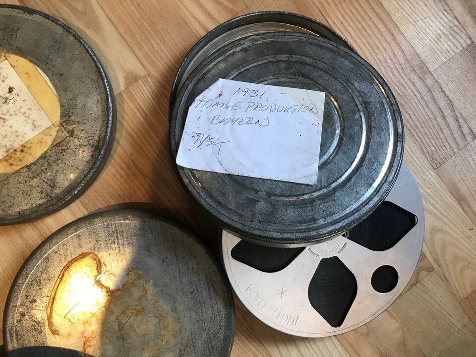 Foto, 10 stk 16 mm film i æsker 1930/1950erne