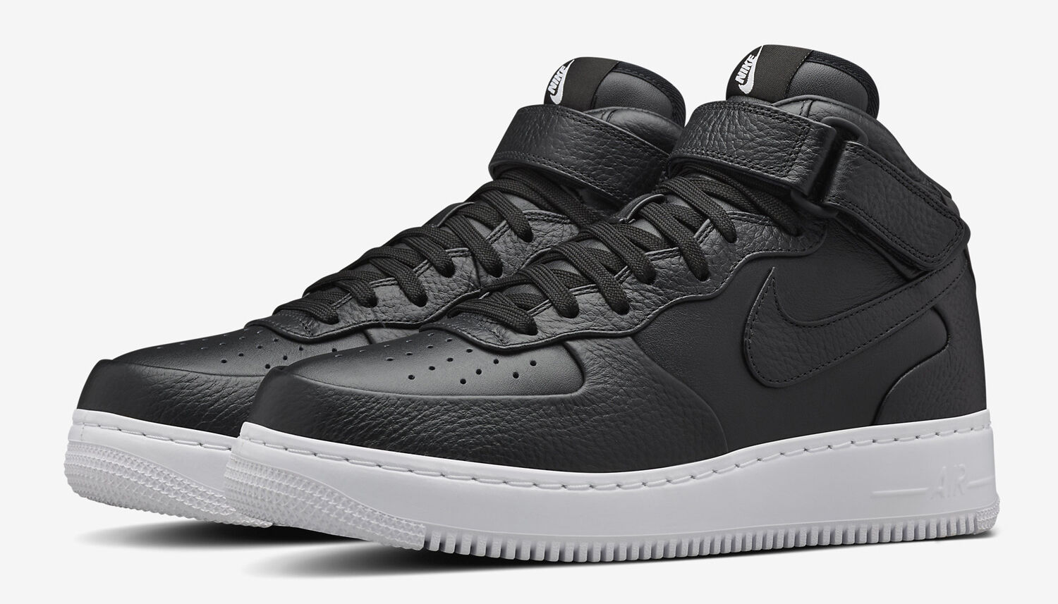 NIKELAB AIRFORCE 1 MID 819677 002 BLACK LEATHER UK 11 EU 46 BNIB