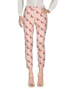 Pantaloni-Donna-BLUGIRL-FOLIES-Made-in-Italy-I198-Affusolato-Rosa-Beige-Tg-38-42
