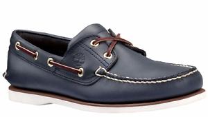 Timberland-2-pour-Homme-Oeil-Classique-Handsewn-cuir-Chaussures-bateau-bleu-marine-style-74036