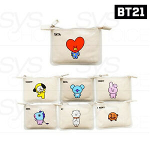 BTS-BT21-Official-Authentic-Goods-PVC-Mini-Pouch-7Characters-By-Kumhong-Track