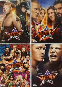2019-Topps-WWE-Summerslam-Posters-Spotlight-Card-Set-of-4