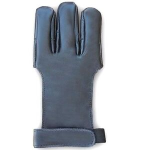CAROL-TRADITIONAL-ARCHERY-SHOOTING-QUALITY-GOAT-LEATHER-GLOVE-AG300D-BLACK