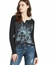 Lucky Brand - XS - NWT - Black Constellation Flock Top - Long Sleeve Tee/T-Shirt