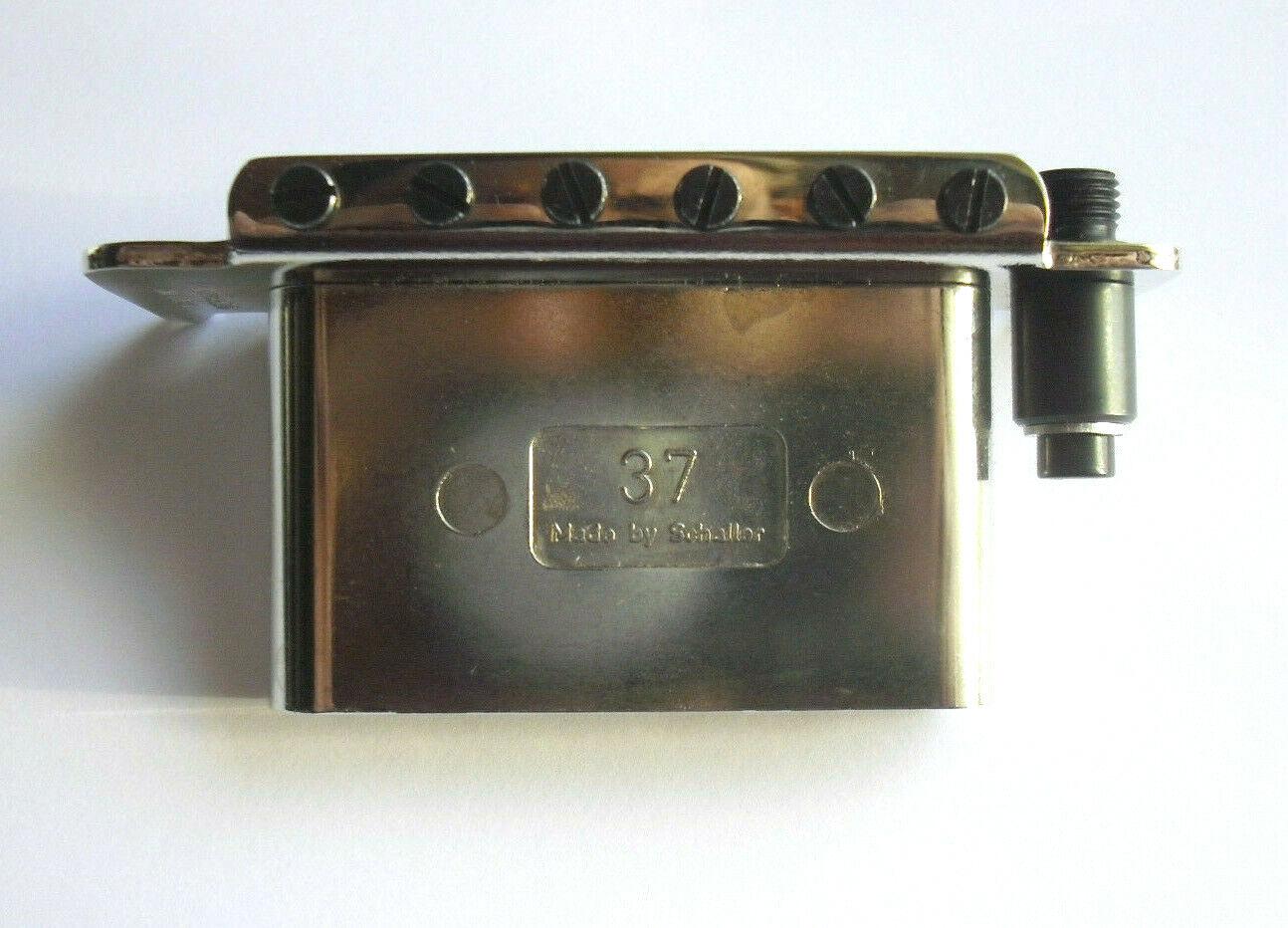 Schaller 4-Loch Buchsenblech Jack-Plate Schrauben gebogen Chrome inkl