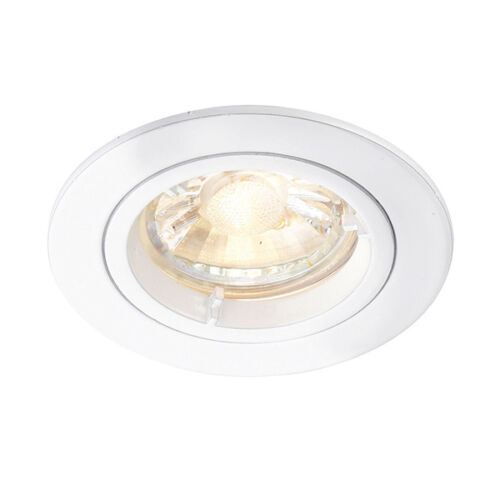 6 x GU10 MAINS FIXED DIE CAST DOWNLIGHT RECESSED CEILING SPOTLIGHT TWIST LOCK