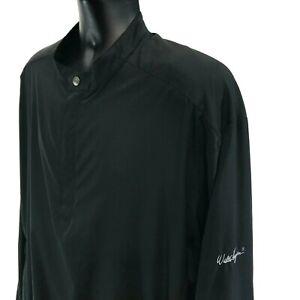 Walter-Hagen-Golf-1-4-Zip-Lined-Pull-Over-Jacket-Mens-Size-XL-Black-Long-Sleeve