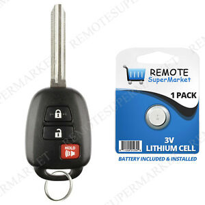Prius Key Battery >> Details About Replacement For Toyota 2012 2013 2014 2015 2016 Prius C Remote Entry Car Key Fob