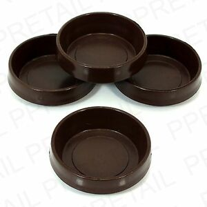 Image Is Loading 4 X Brown Chair Sofa Castor Cups Furniture
