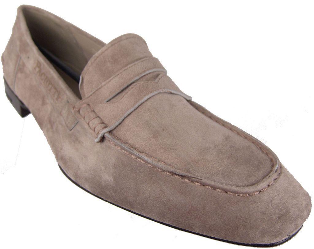 CESARE PACIOTTI US 9 Elegante Mocasines De Gamuza Suave Diseñador Italiano Zapatos para hombre